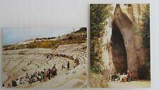 2x SIRACUSA Syracuse Italien Postkarten Cartolina Italiana Postcard unused Italy