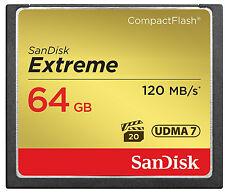 SanDisk 64GB Extreme Compact Flash 800X High Speed CF Memory Card  UDMA7 120MB/s