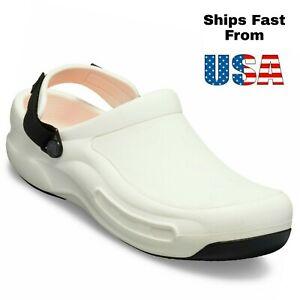Crocs Unisex Bistro Pro LiteRide White Clog Men's Size US 14 EUR 49-50 NEW