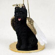 Bouvier Dog Angel Ornament Resin Hand Painted Figurine Christmas Cropped puppy
