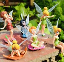 Tinkerbell Cake Topper Set Of 6 PVC Ornaments Decoration Cupcake U.K. Seller