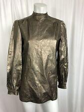 NYC Leathercraft Process Womens Jacket Shirt Top Metallic S / 4 Unique Vintage