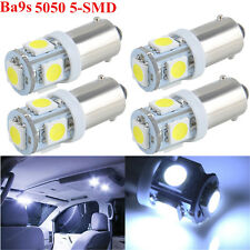 4x HID White T11 BA9S 5050 5-SMD LED Bulbs Car Wedge Interior Map License Light