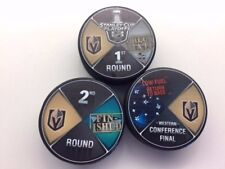 Vegas Golden Knights Playoffs Victory Pucks CheckMate, Finished, Low Fuel