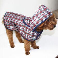 Dog Cat RainCoat Pet Jacket Pup Clothes Waterproof Coat Plaid Cloak Apperal S-XL