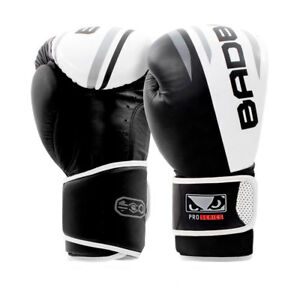 Bad Boy MMA Pro Series Leather Boxing Gloves Black Kick Punch Mitts Sparring