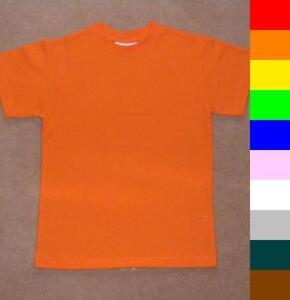 BNWT boys/girls plain short sleeve t-shirts 10 colours