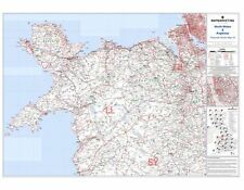Postcode Sector Map 16 North Wales and Anglesey - Laminated Wall Map