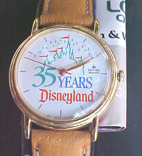 Lorus 35 Years of Disneyland Mickey Minnie Pluto Goofy Princess Donald Daisy NEW