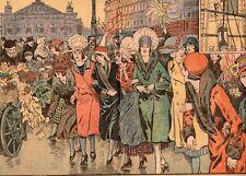 PARIS SAINTE CATHERINE MARBRE RUE POISSONNIERE ET CLERY CHAPEAUX IMAGE 1929