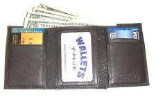 Soft Leather Trifold Wallet -Dark Brown-  Loaded with features - New