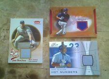3 lot MARK TEIXEIRA JERSEY CARDS 2004 HOT NUMBERS #/250 +  HIT KINGS + STAND OUT