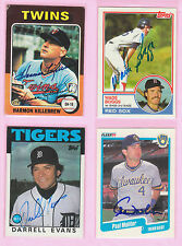 Authentic Autographed Card 1990 Fleer #330-Paul Molitor, Milwaukee Brewers
