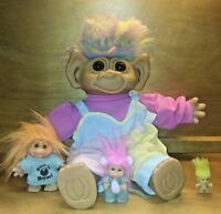 Lot Of 4 Uneeda Troll Dolls