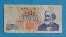 ITALIA BANCONOTA LIRE 1000 G.VERDI - 1^ TIPO DM 1963 Carli/Ripa Rarità R2 - BB+