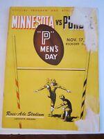 1951 PURDUE VS MINNESOTA FOOTBALL - OFFICIAL GAME PROGRAM - BOX C