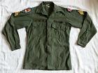 Vintage Vietnam War US 6th Army 199th Light Infantry Brigade OG 107 Coat Shirt MUniforms - 104017