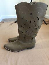 Rampage Vander Tan Cowgirl Boots