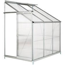 Serre de jardin polycarbonate avec base aluminium légume plante jardinage 4,09m³