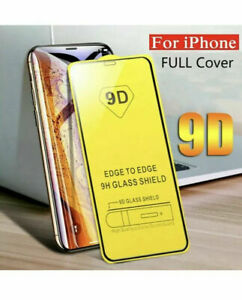 Screen Protector iPhone 12,Mini,Pro,Pro MAX 9D FULL COVER TEMPERED GLASS UK