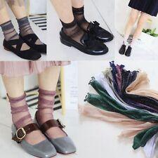 Elasticity Soft Glitter Mesh Ankle Stockings Fishnet Socks Gauze