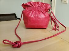 Hobo International Small Raspberry Leather Crossbody Magnetic Close Purse Pouch