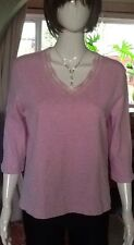 Pink Top With Lace Detail At The Neck From La Sensa Medium Size.