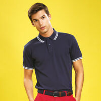 Asquith & Fox AQ011 Mens Classic Fit Tipped Polo Tshirt Sports Casual Wear Tops