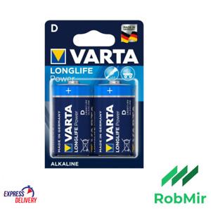 2 Piles VARTA LR20 D Alcaline 1.5 V Battery batería