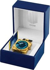 Dr Who Men's Quartz Watch With Blue Dial Analogue Display and Black Leather Stra