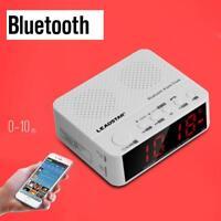 "LEADSTAR 3.5"" Wireless Bluetooth Speaker Stereo MP3 AUX Alarm Clock FM Radio TF"