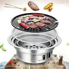 New listing Outdoor Bbq Carbon Grill Round Charcoal Home Outdoor Camping Cooker Stove Kit Us