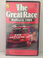 THE GREAT RACE ~ AUSTRALIA'S MOUNT PANORAMA BATHURST 1989 ~ VHS VIDEO
