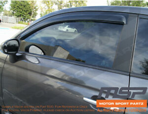 JDM Vent Visors 4pcs Wind Deflector For Dodge Ram 3500 10-16 2010-2016 Crew Cab