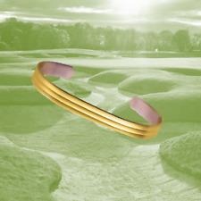 """Sabona Gold Plated Copper Design Bracelet, Extra Large 7"""""""