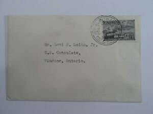 HV STAMPS : CANADA 1951 ROYAL TRAIN POSTMARK COVER USED TO WINDSOR ONTARIO