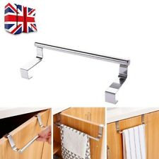 Over Door Tea Towel Holder Rack Bathroom Aluminum Towel Rail Kitchen Hook UK