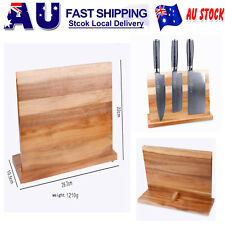 Magnetic Knife Cutlery Holder Bamboo Stand Storage Rack Block Kitchen Bar Tool