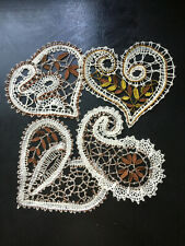 6 Patterns to making Bobbin Lace Valentine's Hearts Russian style