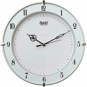 WALL CLOCK Material Ajanta Restaurant Ideal Living Bed Room Pure White Color