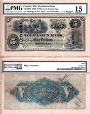 1872 $5 The Mechanics Bank. Charlton 430-10-08b with Alex O/P  PMG Choice Fine15