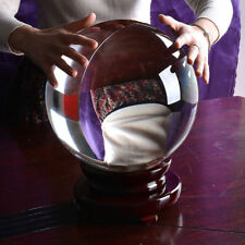 250mm Huge Asian Rare Quartz Clear Magic Crystal Healing Ball Sphere +Wood Stand