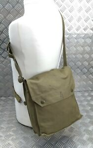 Originale Vintage Military Emesso Cachi Tela Gas Borsa Bisaccia Like WW2 Numero