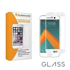 HTC 10 blanco de borde a borde Completo Protector de pantalla de vidrio templado por screenzies ®