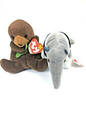 Ty Beanie Baby Collection Ants - The Anteater & Seaweed - The Otter Plush Toys