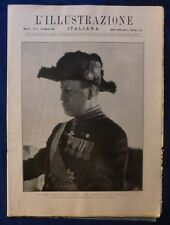 ILLUSTRAZIONE ITALIANA - N. 6 / 1924 - MUSSOLINI IN UNIFORME DI 1° MIN ISTRO