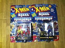 X-Men Die Cast Metal Steel Mutants Action Figure LOT Marvel Legends Toybiz