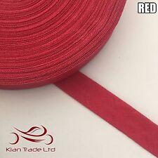 13mm X 25 metros de cinta de algodón de unión de polarización-Rojo. BORDE moldura de Unión de las correas