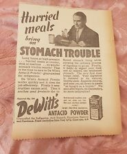 DeWitt's Antacid Powder 1941 Advertisement