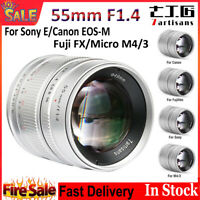 7artisans 55mm F1.4 Large Aperture Lens For Sony E/Fuji FX/Canon EOS-M / M4/3